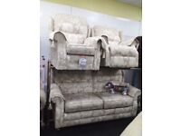 Newe g plan cream suite with electric recliner chair delivery available bargain price set delivery