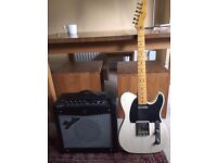 Squire Telecaster and Fender Mustang 1 amp
