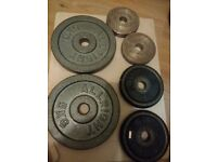 2x 5kg, 2x2.5 kg, 2x1.9 kg cast weights disc plates