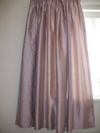 Lilac faux silk curtains from Dunelm in perfect condition size width 66x54 drop. Fully lined