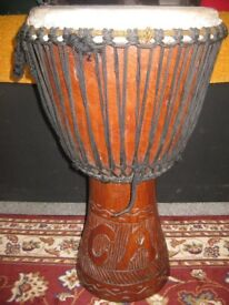 AUTHENTIC DJEMBE FROM MALI (BASS), WITH ITS OWN CARRY BAG, £200ono