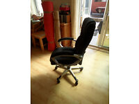 Kashmir Microfibre Manager's Chair, Black, (Brand New Still In Box)