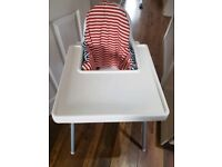 Ikea ANTILOP high chair with tray and infant supporting insert