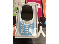 Nokia 3310 in blue new boxed unlocked 2018 model