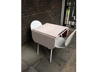 1950/60s Retro Formica kitchen/dining table & 2 chairs