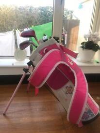 Barbie girls golf clubs