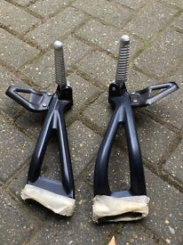 Ducati monster rear footrests and brackets as new