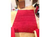 Ikea Hampen 'Shaggy' Red Rug - MUST GO!!