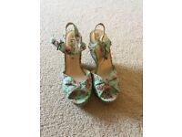 New Look Summer Floral Wedges Never Worn