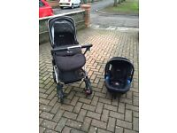 Silvercross wayfarer travel system pram/buggy/car seat