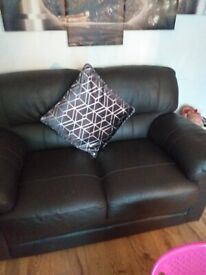 FREE 2 x2 seater leather sofas NEED GONE TONIGHT OR MORNING