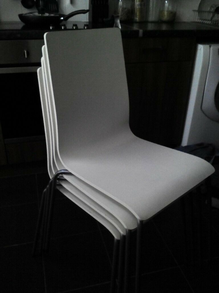 Ikea Wooden Dining Chairs X 4