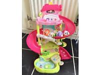 Hamsters family garage house toys kids children cars playground set