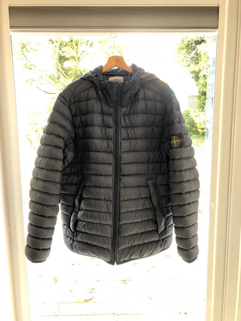 super popular pretty cool popular stores Genuine Stone Island Garment dyed micro yarn hooded down jacket ...