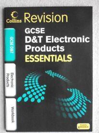 2 No: GCSE 'D&T 'ELECTRONIC PRODUCTS ESSENTIALS REVISION BOOKS - COLLINS
