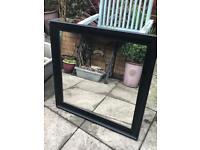 Large square black mirror