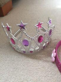 Princess tiara and sparkly headband