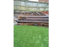 HEAVY THICK WOODEN JOISTS Free **********