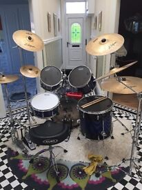 SONOR FORCE 3007 drum kit and loads of extras
