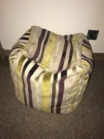 Bean bag foot stool excellent condition
