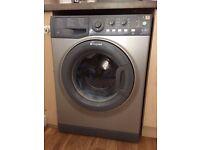 Aquarius washing machine in silver grey