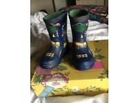 Baby boy joules transport wellies 6