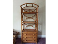 Cane 3 tier shelf display unit - ideal for conservatory