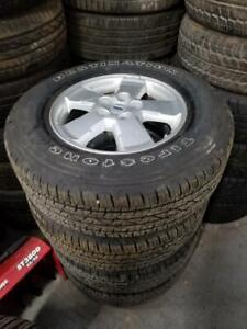 235 70 16 Firestone 99% tread tires on 2012 OEM Ford Escape rims 5 x 114 / TPMS -- $900