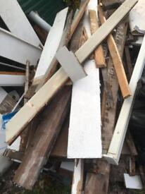 Free scrap wood and plywood and some logs