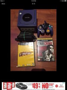 GameCube system  with 2 games and all wires