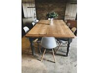 Rustic farmhouse refectory kitchen dining table 10 seater