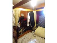 Solid wood four poster bed, excellent condition ,