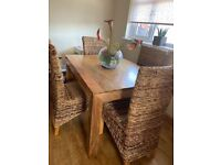 Dining table& 4 chairs