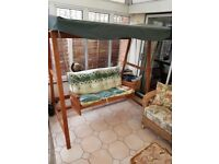 Wooden Swinging Bench For Sale
