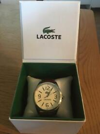 Lacoste Men's brown leather watch