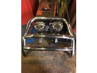 VW caddy van bull bars and spotlights