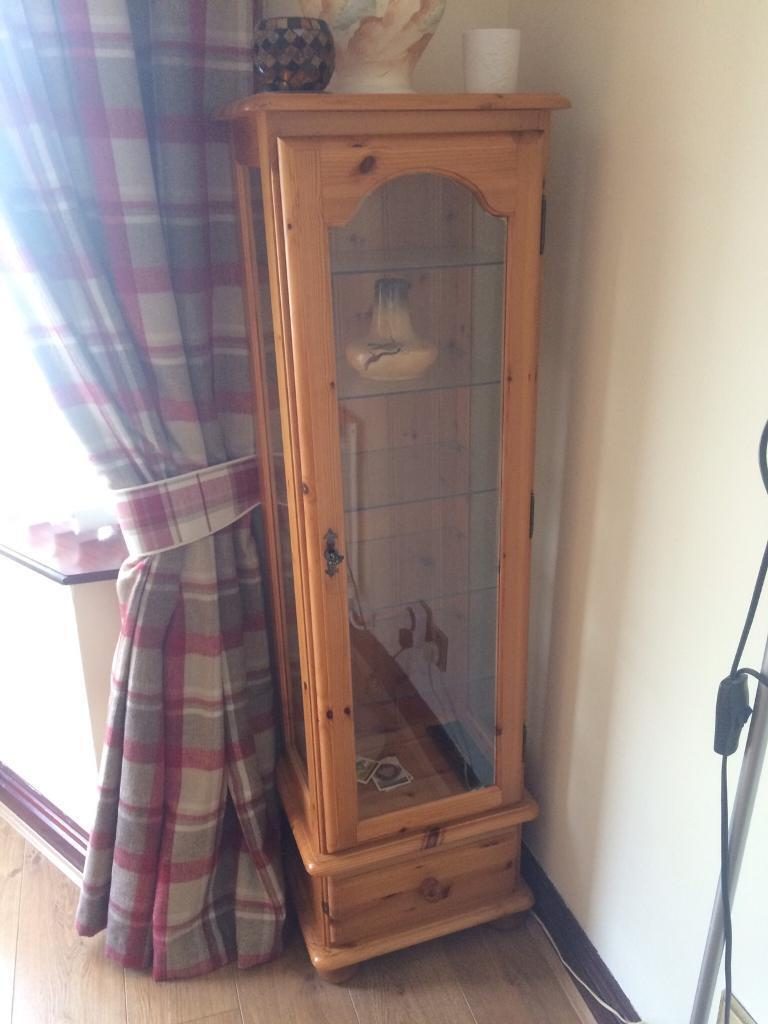 Solid Pine Glass Display Case