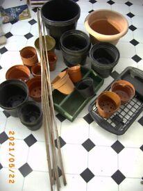 Gardening pots canes Bristol (Oldland Common)