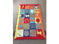 Cot bed, Mattress, Bed sheets, Quilt & Bumper set, Play mat - ALL IN ONE