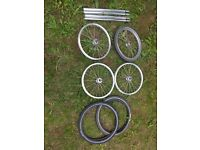 BROMPTON FRONT WHEELS ,TYRES AND SEAT POSTS