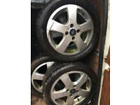 "Ford 16"" alloys with tyres"