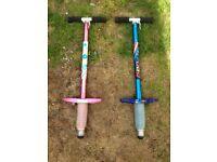 2 x pogo sticks