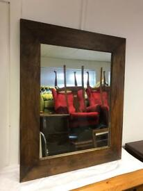 Large dark oak mirror by Next