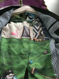 Ted Baker Suit Jacket size 2 . Patterned lining . Very stylish
