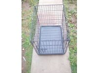 Small black dog cage good condition