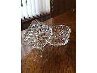 """TYRONE CRYSTAL - Set Of 2 Napkin Rings - """"Wexford"""""""