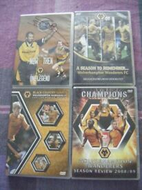 4 wolverhampton wanderers dvds including one signed by steve bull