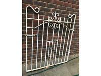 Victorian wrought iron gate