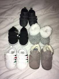 6-12 months baby boy pre walker shoes bundle