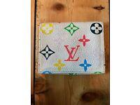 Louis Vuitton monogram multi colour button purse